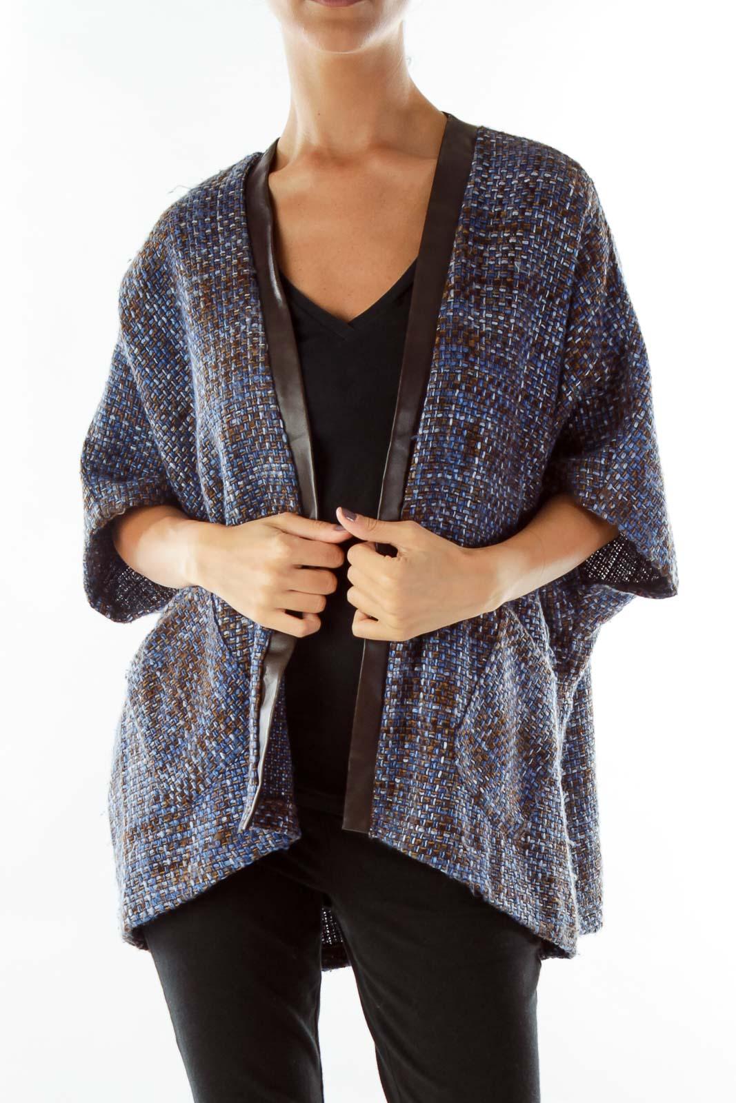 Blue Black Tweed Jacket Front
