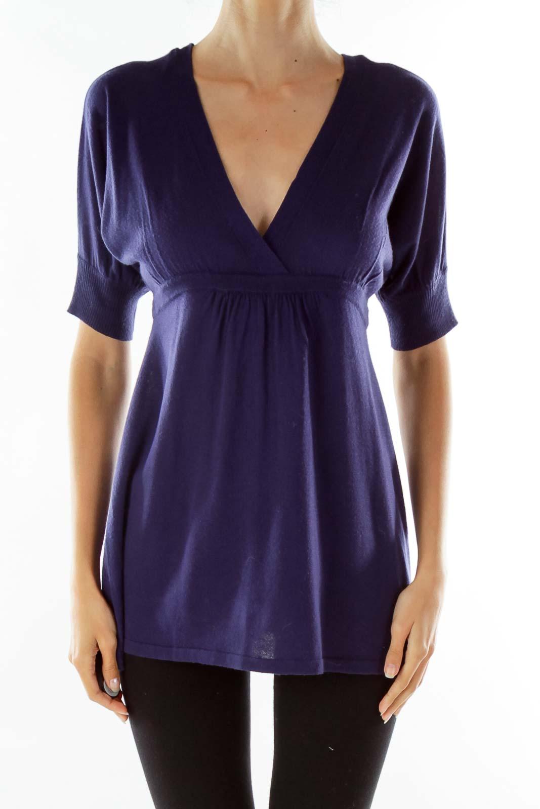 Purple Knit Top Front