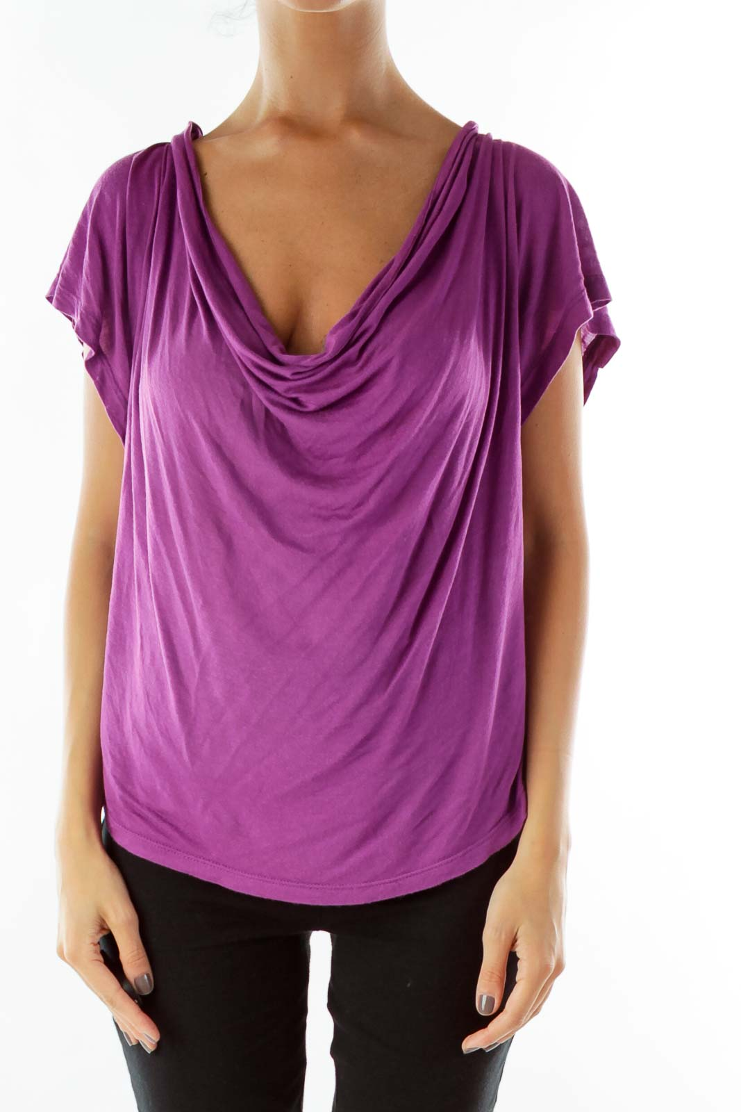 Purple Loose Top Front
