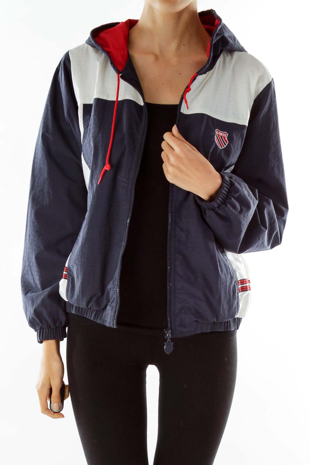 Navy White Red Outdoor Jacket Front