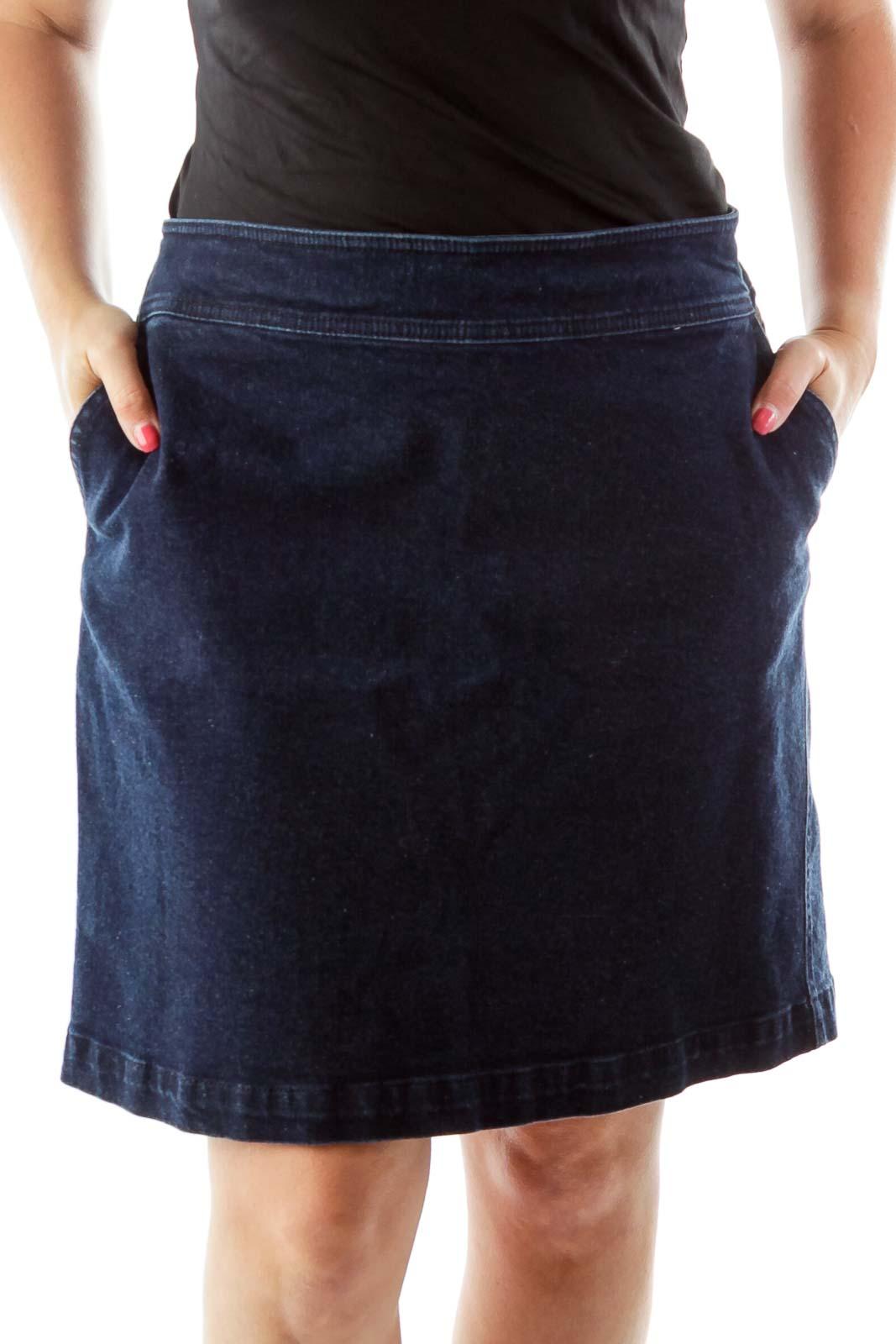 Blue Denim Skirt Front