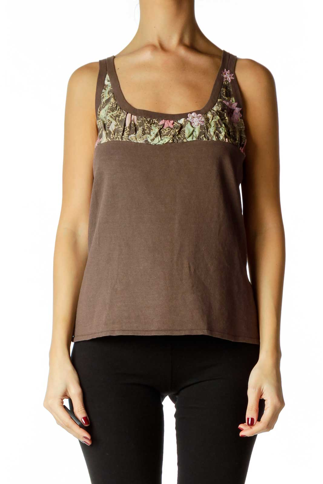 Brown Tank Top Front