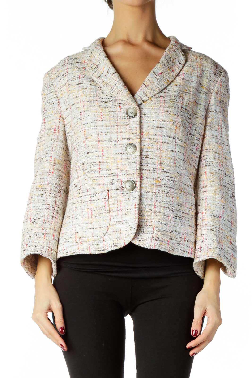 Multicolor Tweed Blazer Front