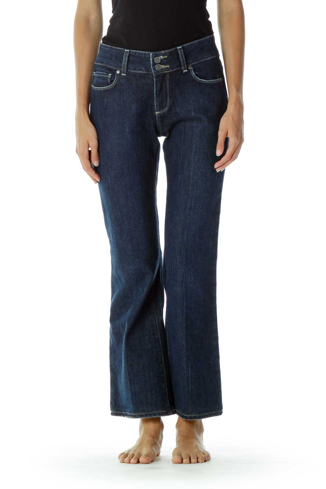 Blue Flared Jeans Front