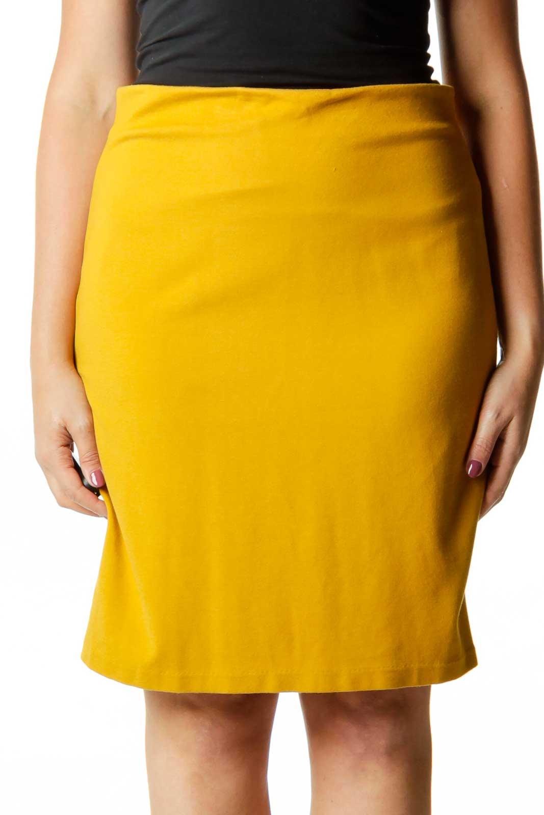 Mustard Yellow Pencil Skirt Front