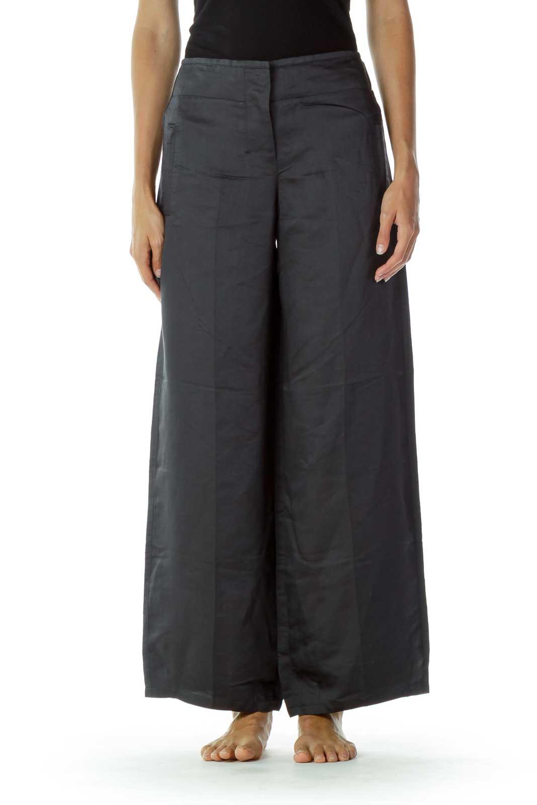 Gray Wide-Leg Pants Front