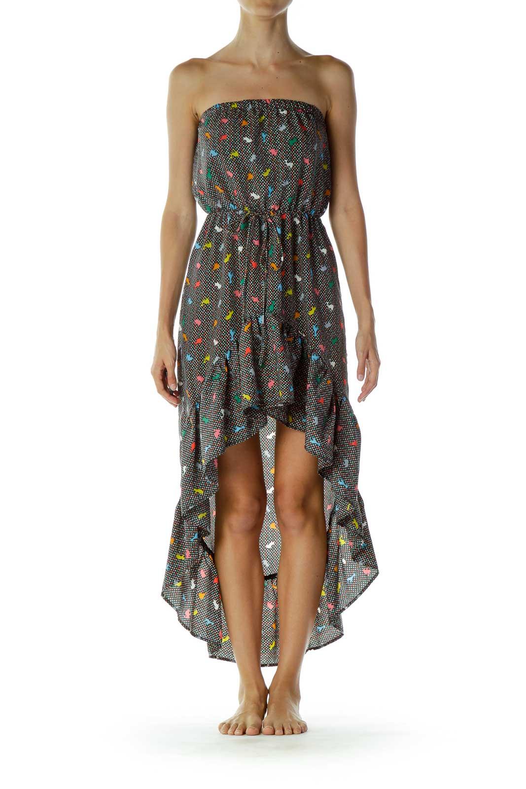 Multicolor Asymmetric Dress Front
