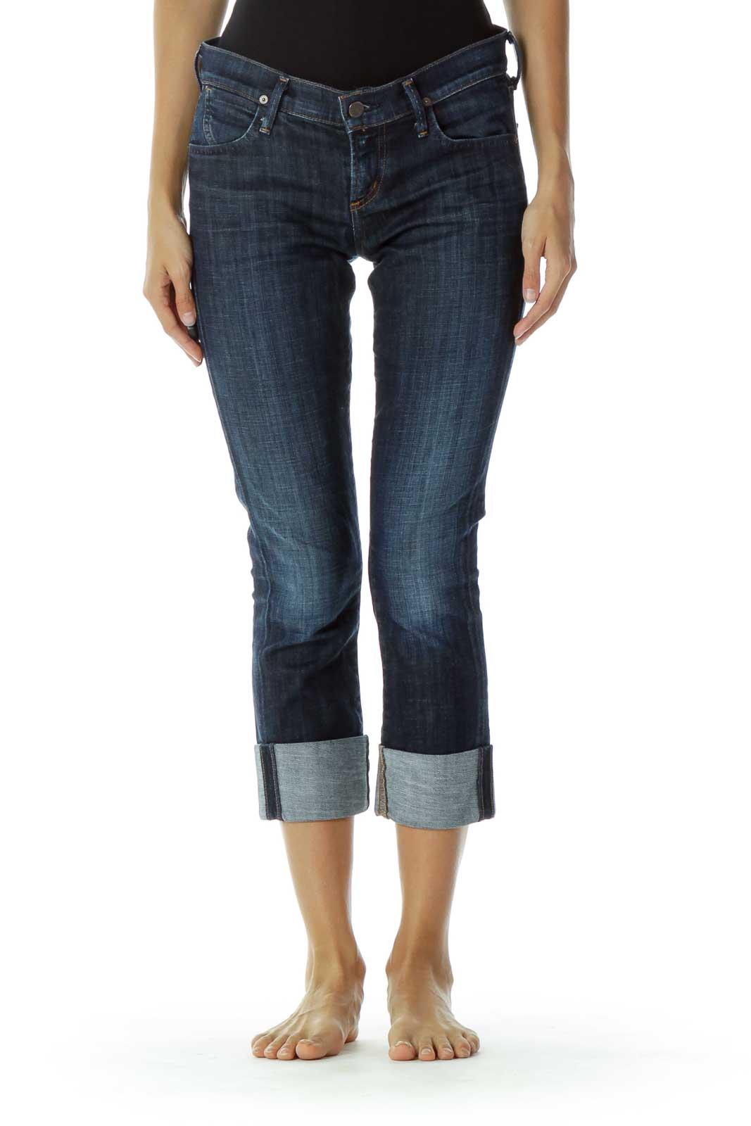 Denim Straight-Leg Jeans Front