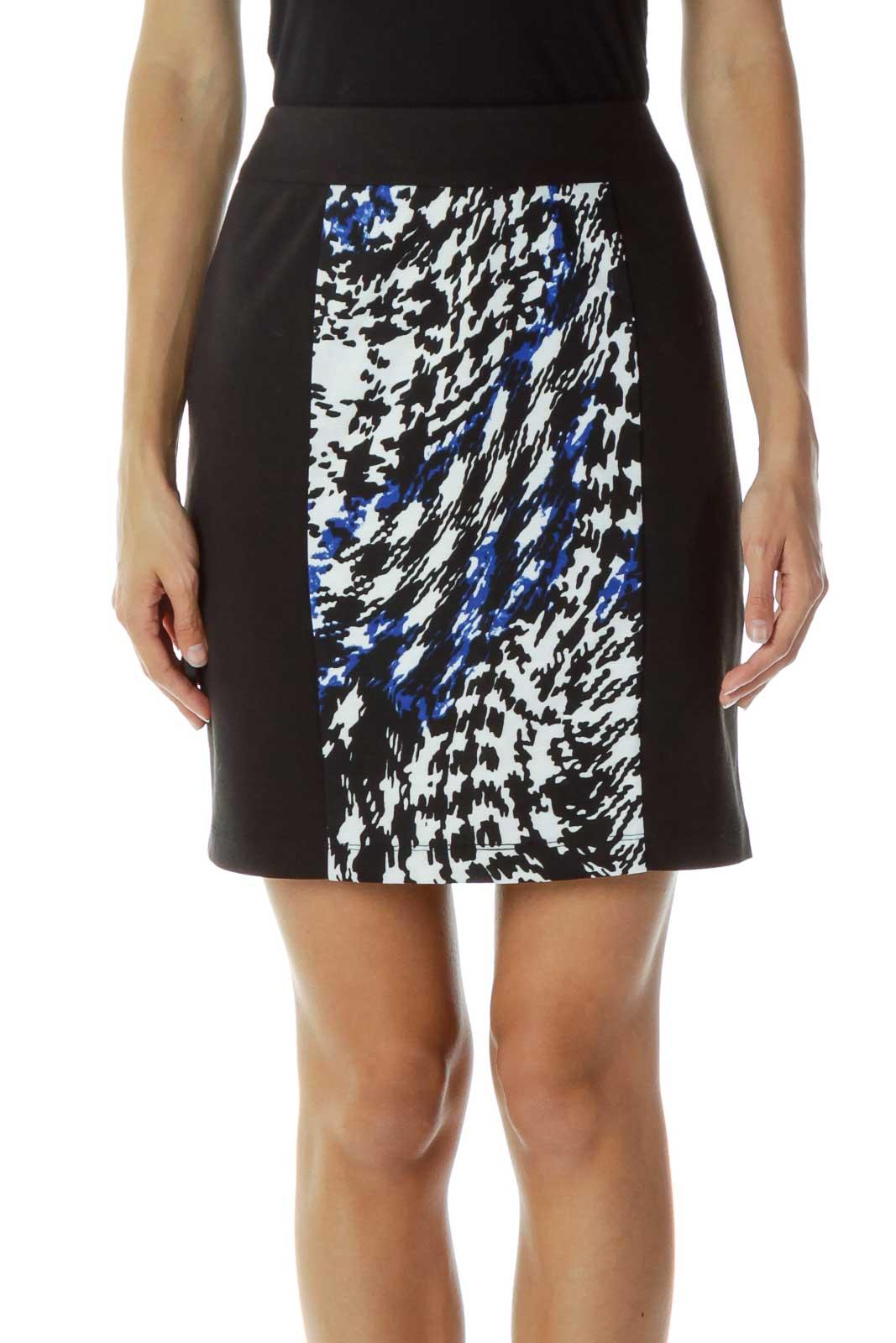 Black & White Pencil Skirt Front