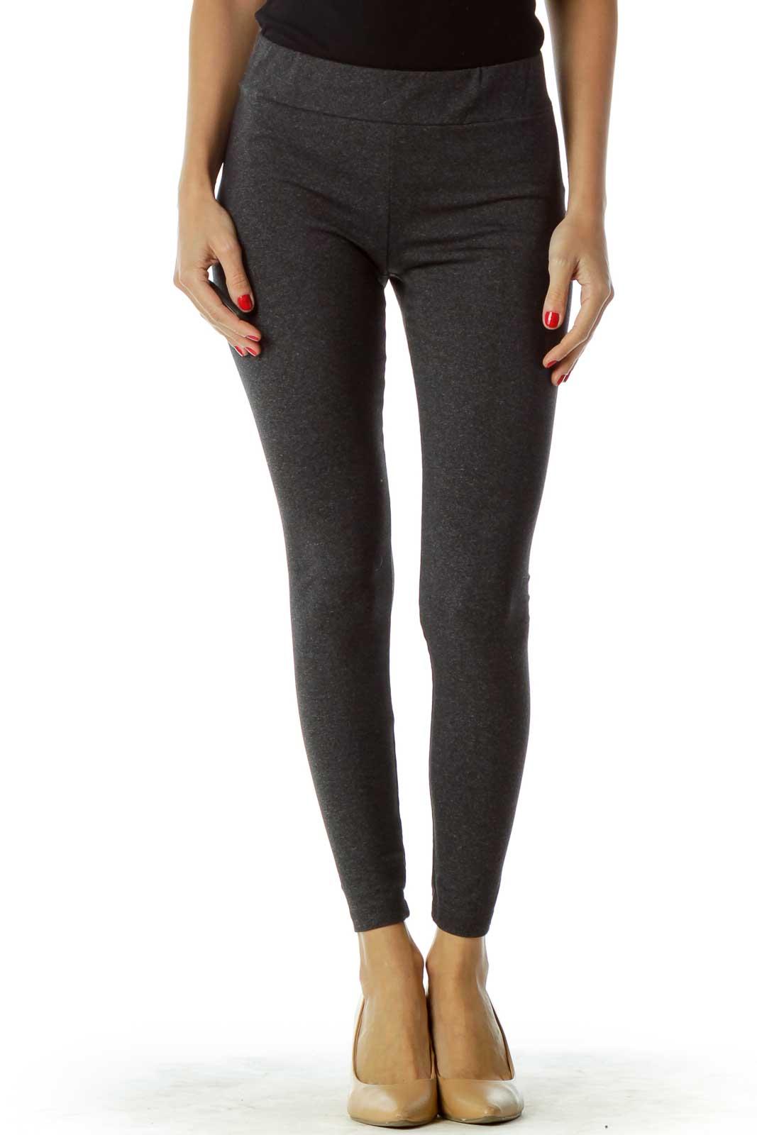 Grey Activewear Leggings Front