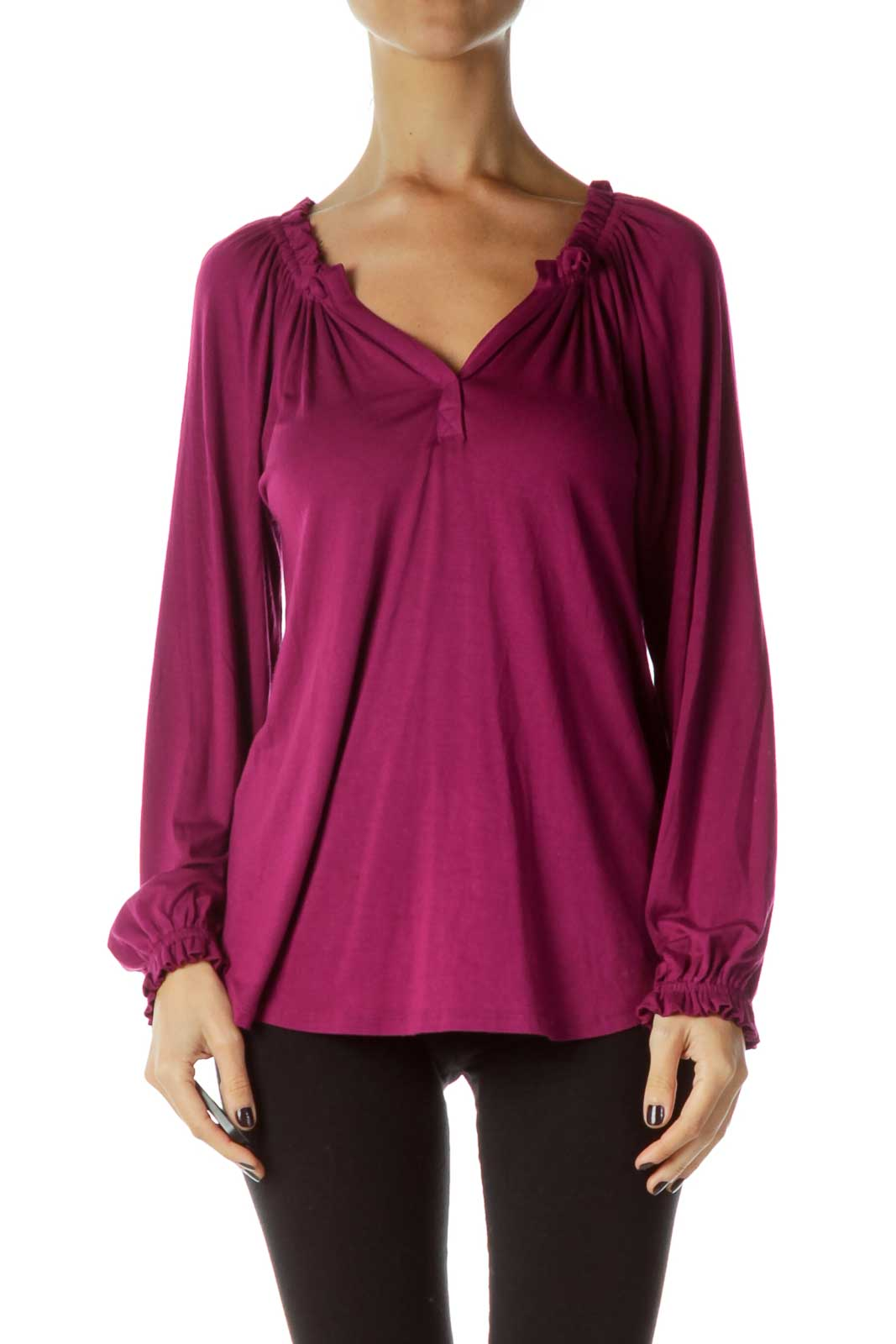 Purple Long Sleeve Shirt Front