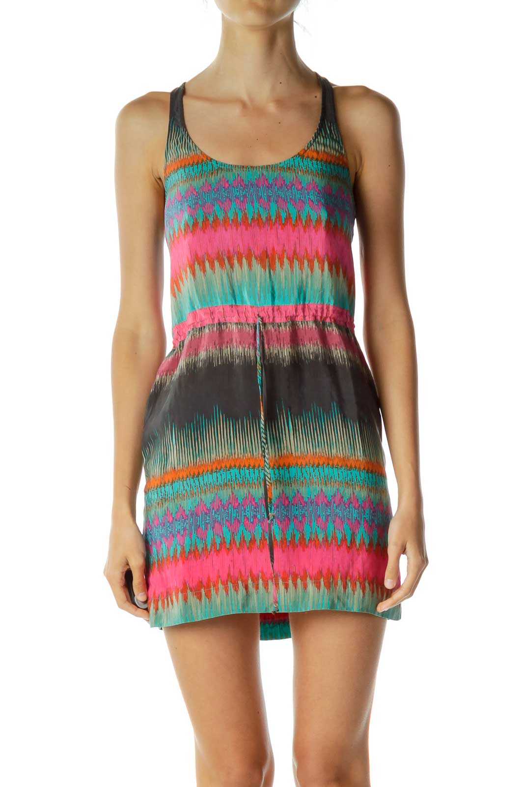 Multicolor Racerback Dress Front