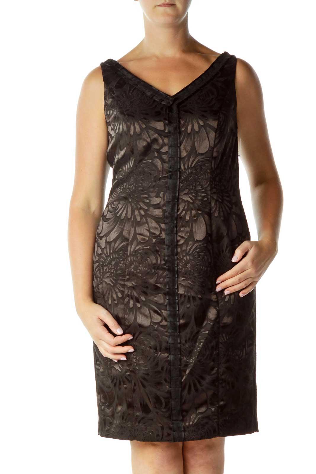 Black Sleeveless Dress Front