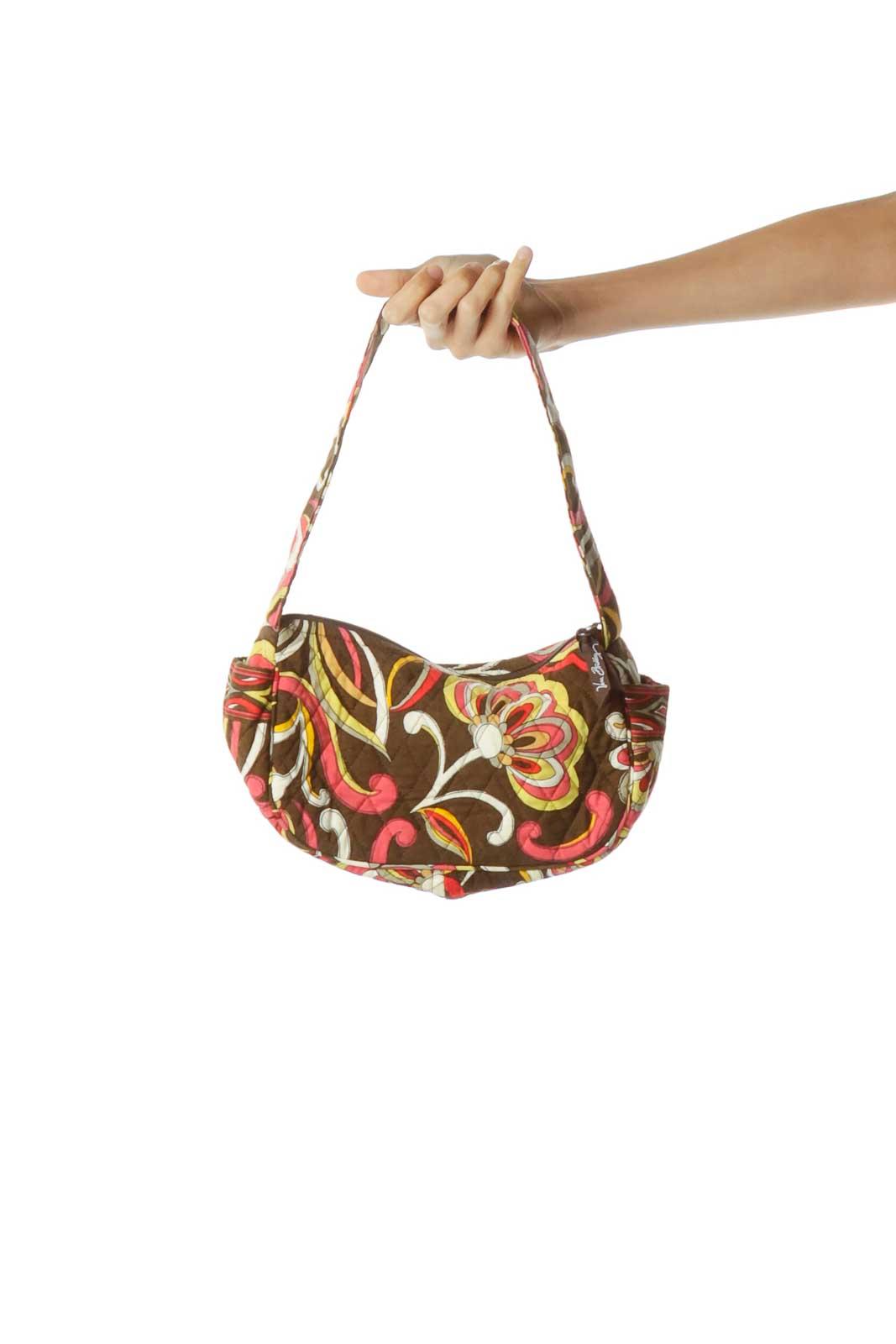 Brown Multicolor Mini Shoulder Bag Front