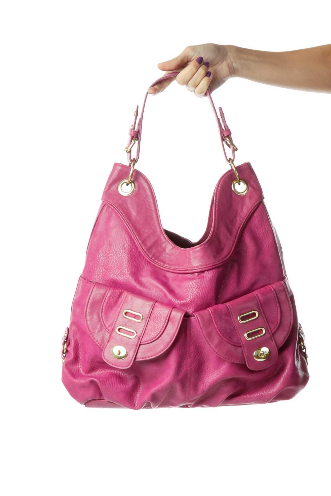 Magenta Shoulder Bag  Front
