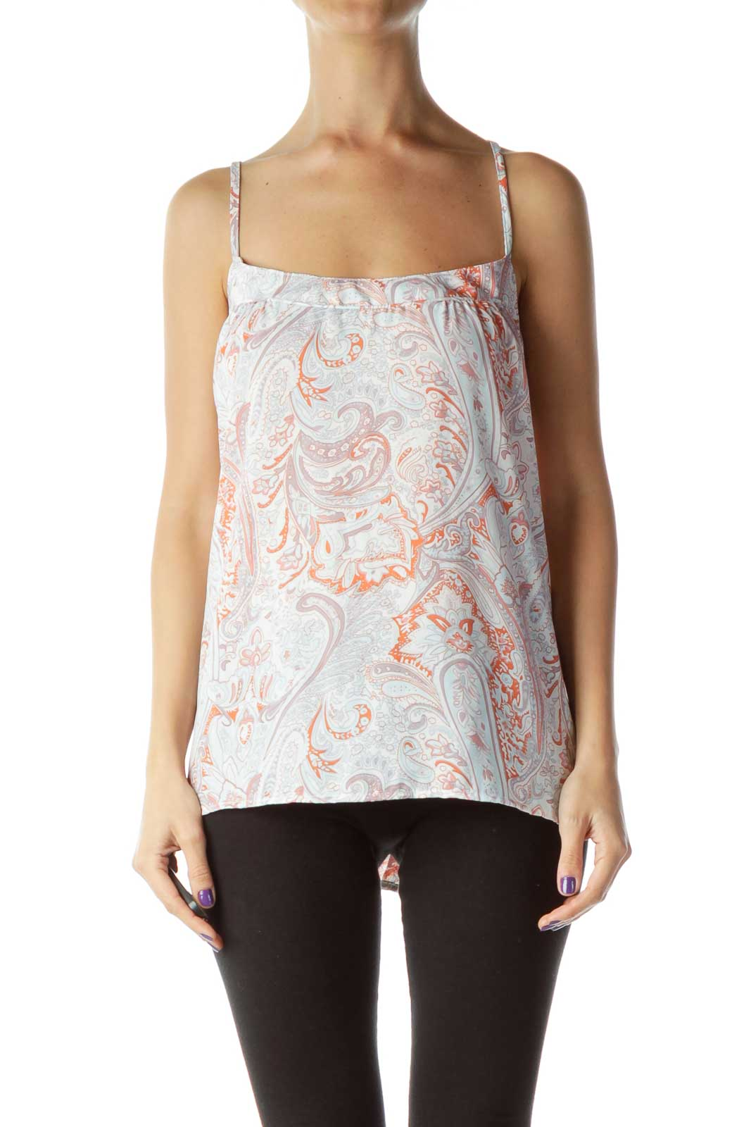Multicolor Patterned Tank Top  Front