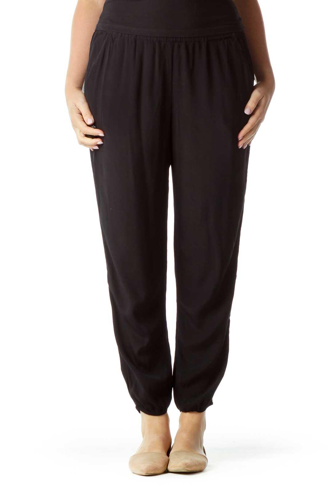 Black Track Pants  Front