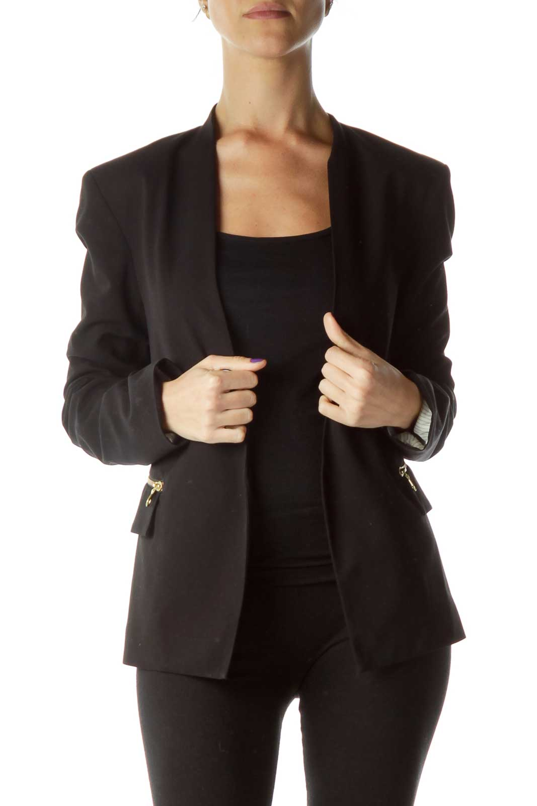 Black Suit Jacket Front