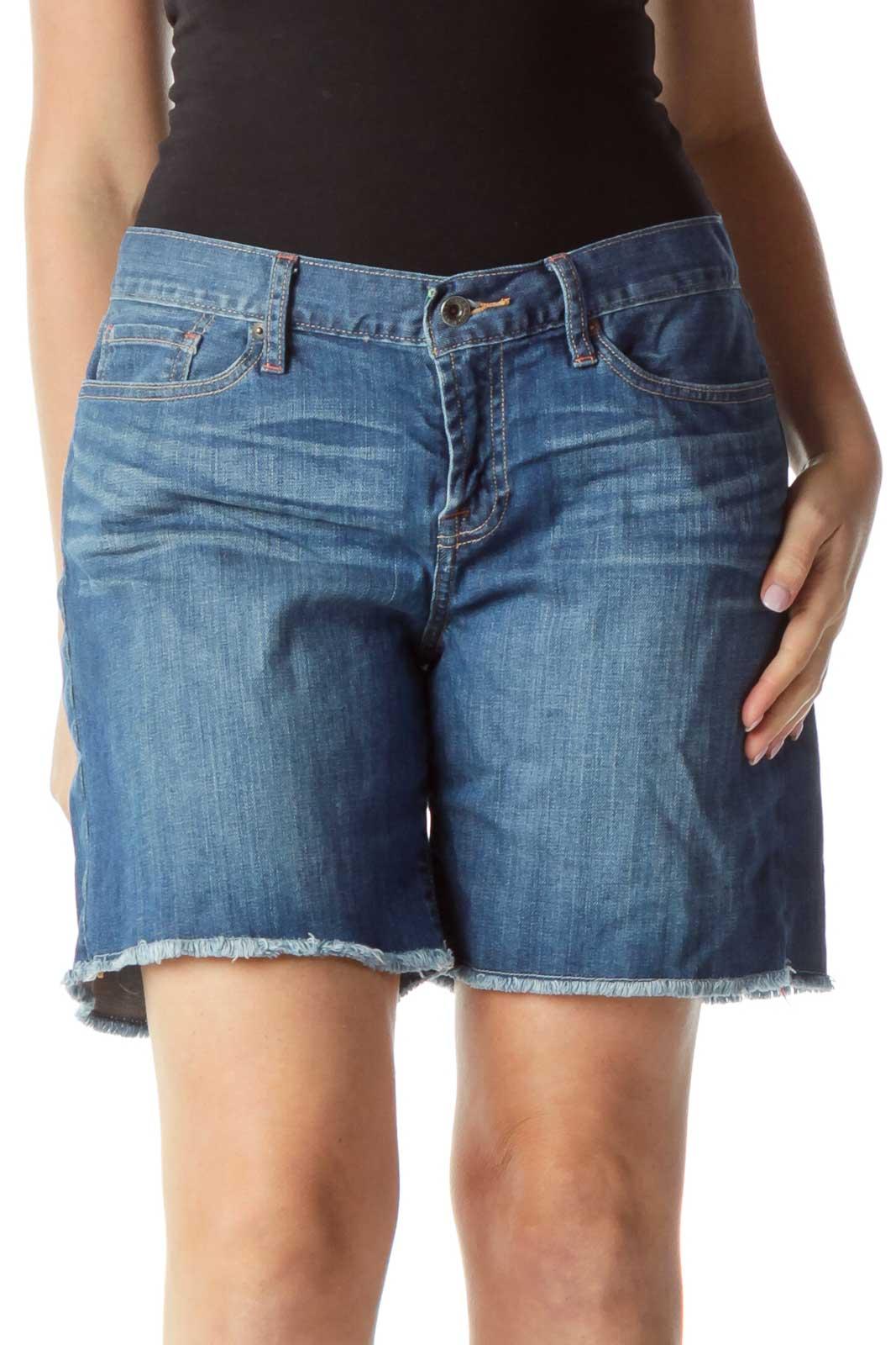 Blue Abbey Short Denim Shorts Front