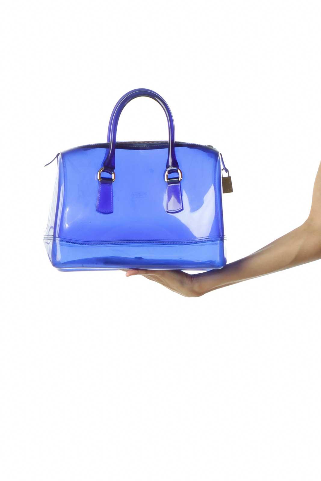 Clear Blue Shoulder Bag Front
