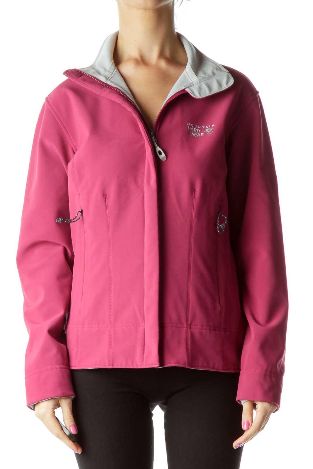 Purple Gray Outerwear Jacket Front