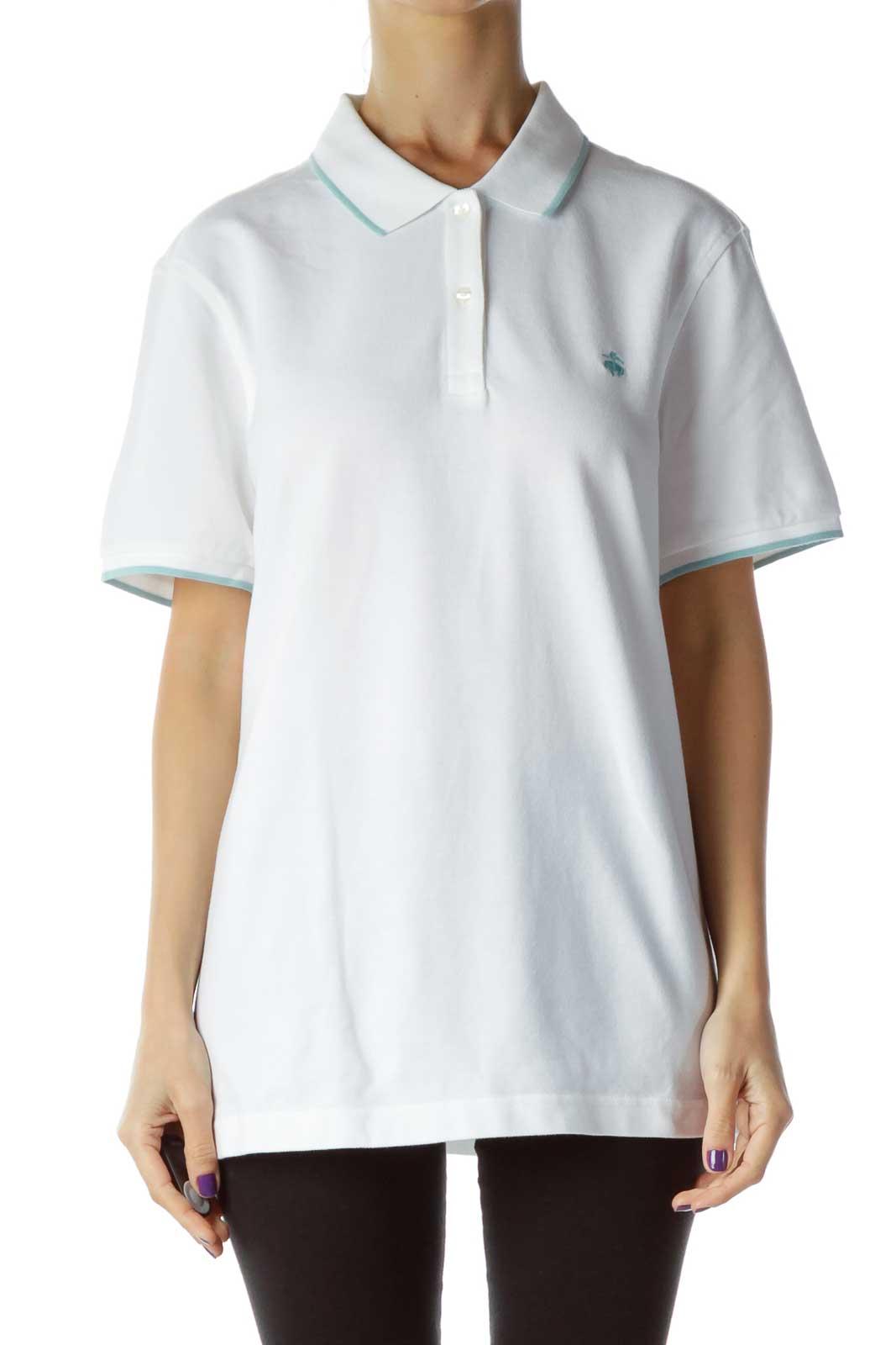 White Polo Shirt Front