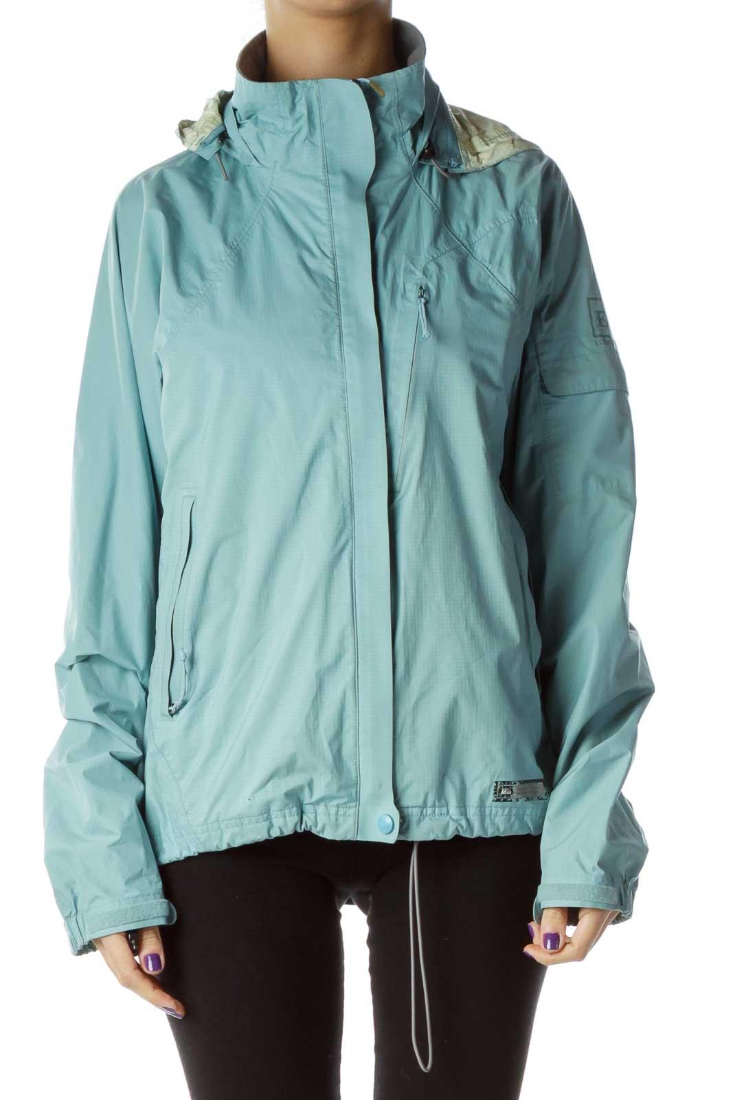 Blue Rain Coat Front