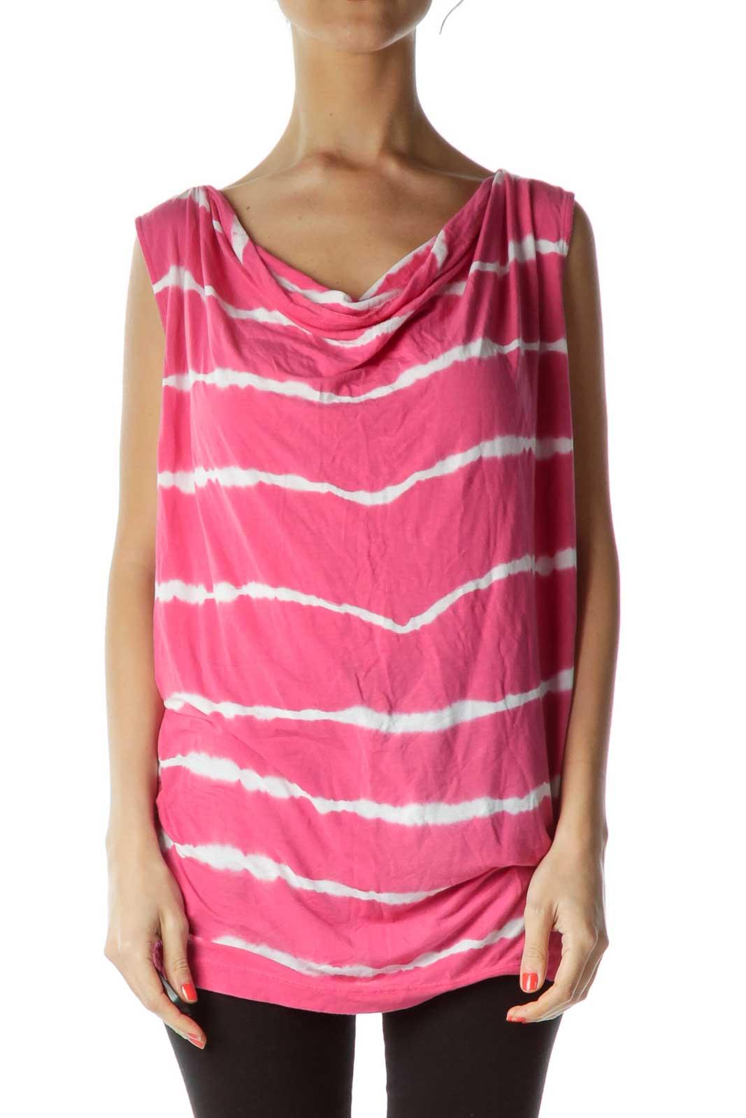 Pink Tie Dye Tank Front