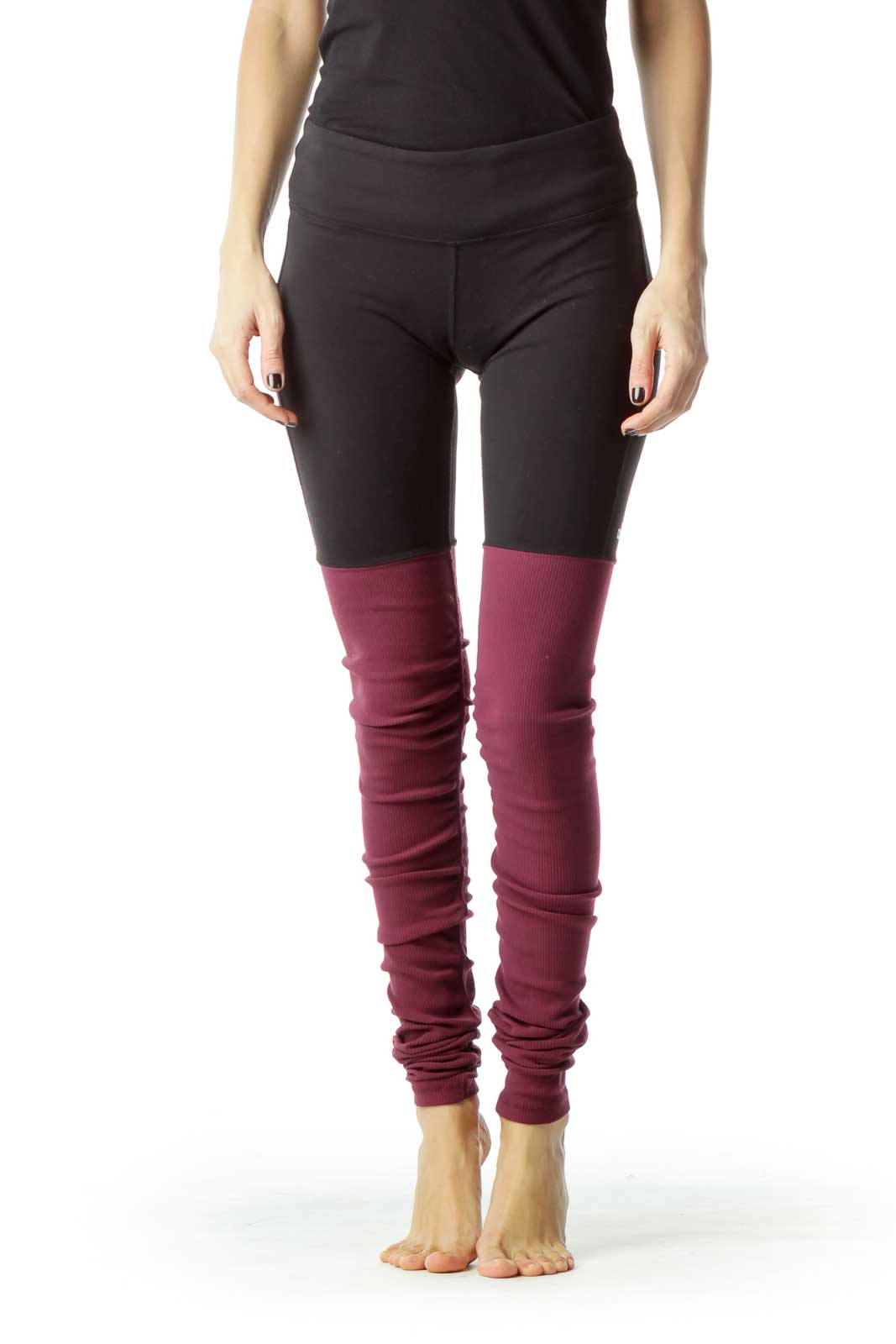 Black Red Yoga Pant Front