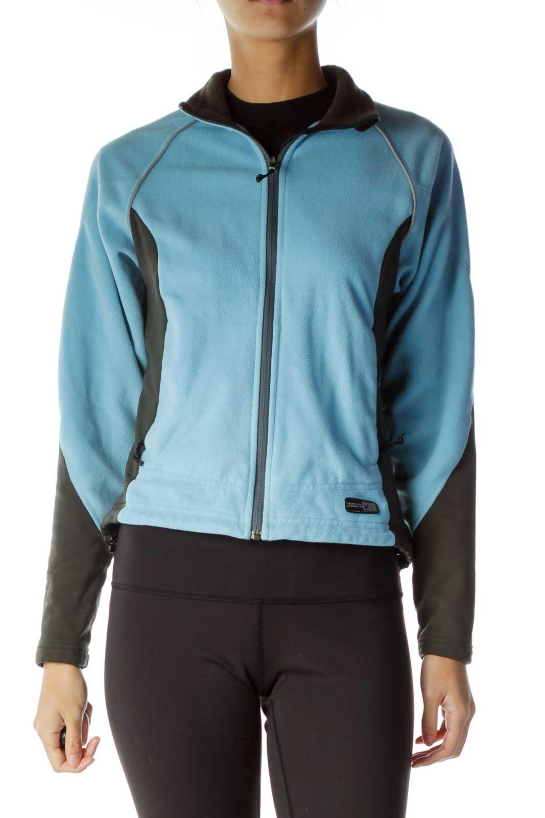 Blue Gray Fleece Front