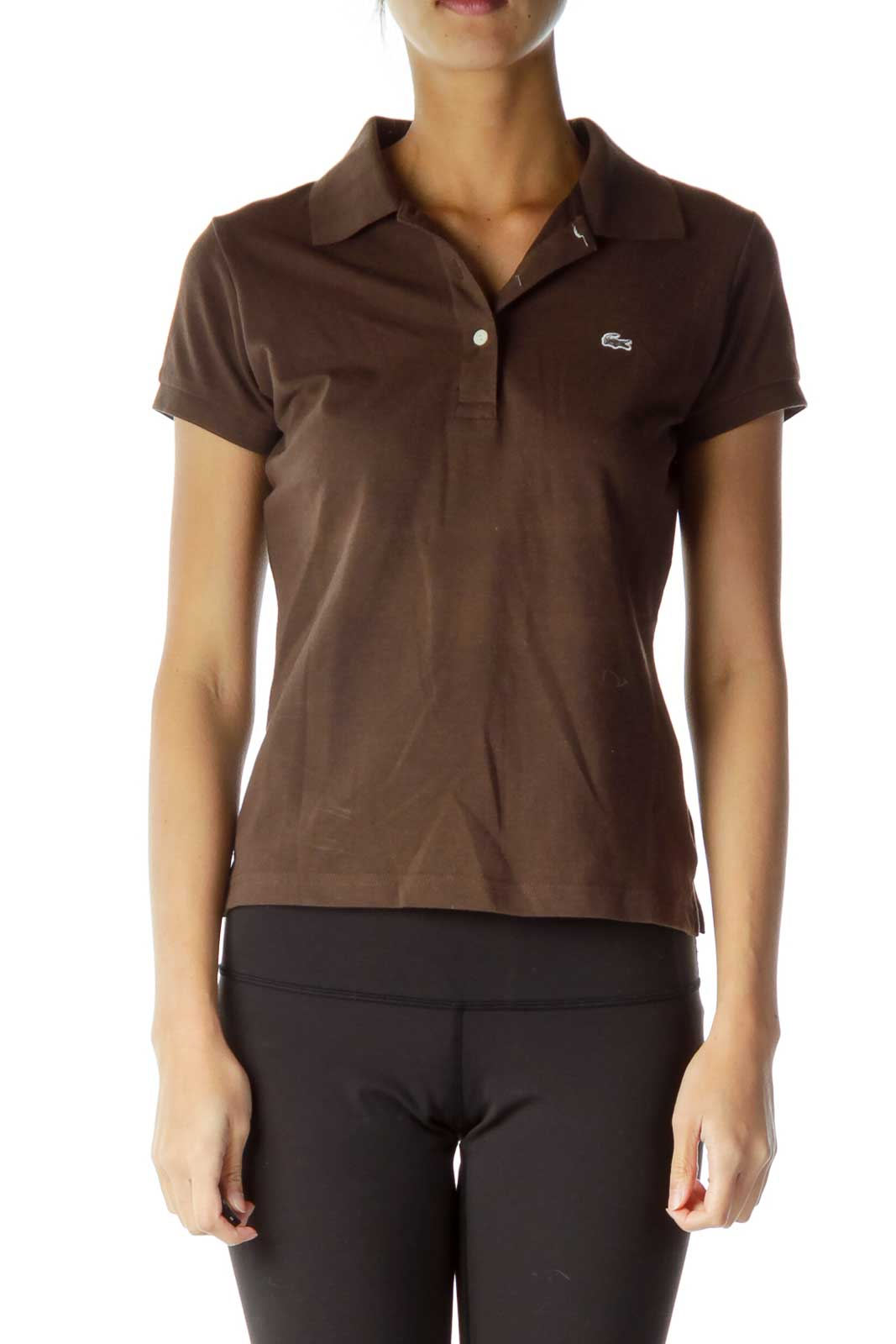 Brown Polo T-Shirt Front