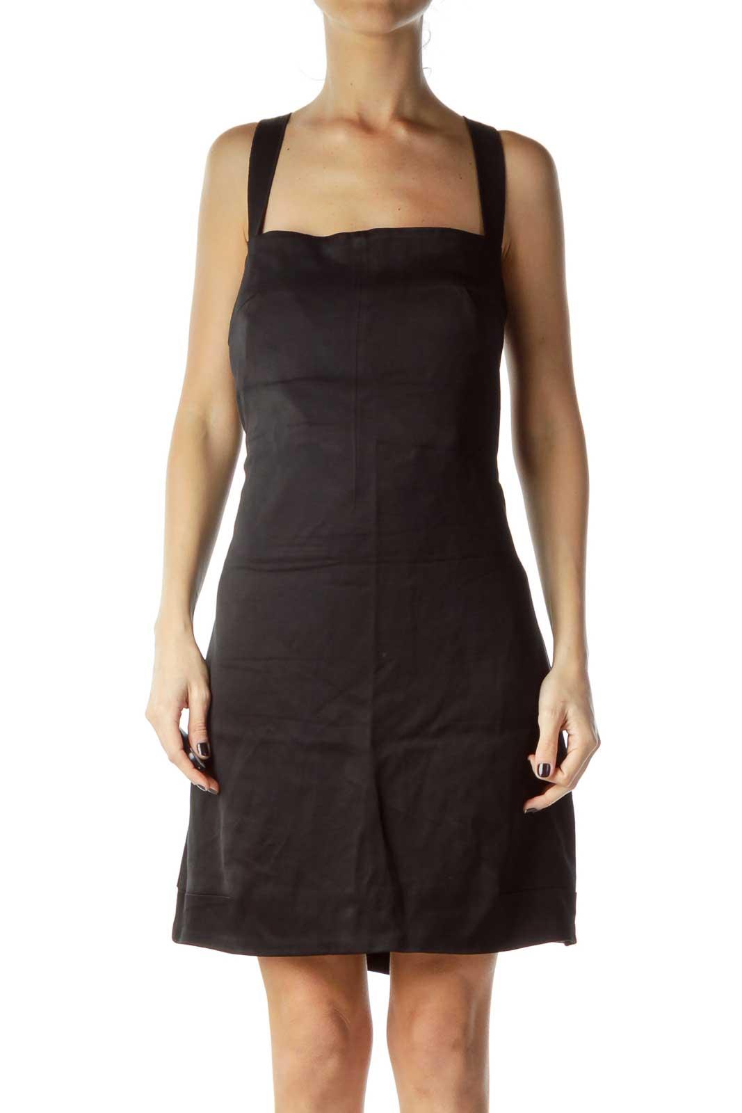 Black Bandage Wrap Cocktail Dress w/ bra inside Front