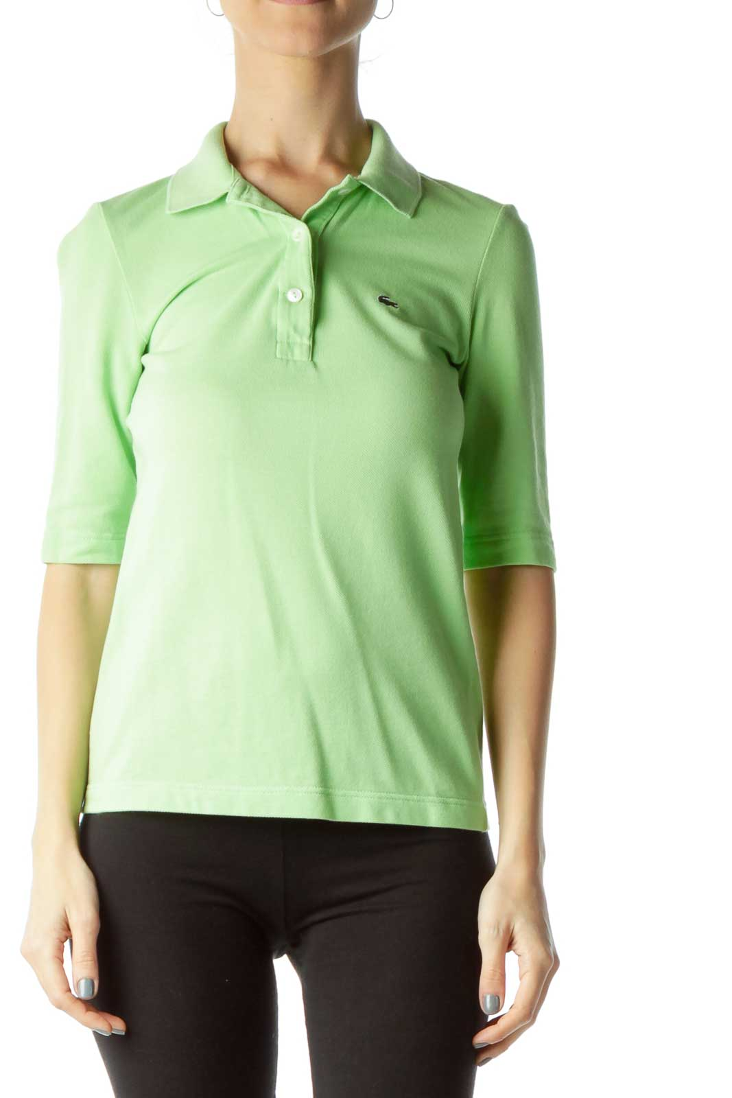 Green Polo Shirt Front