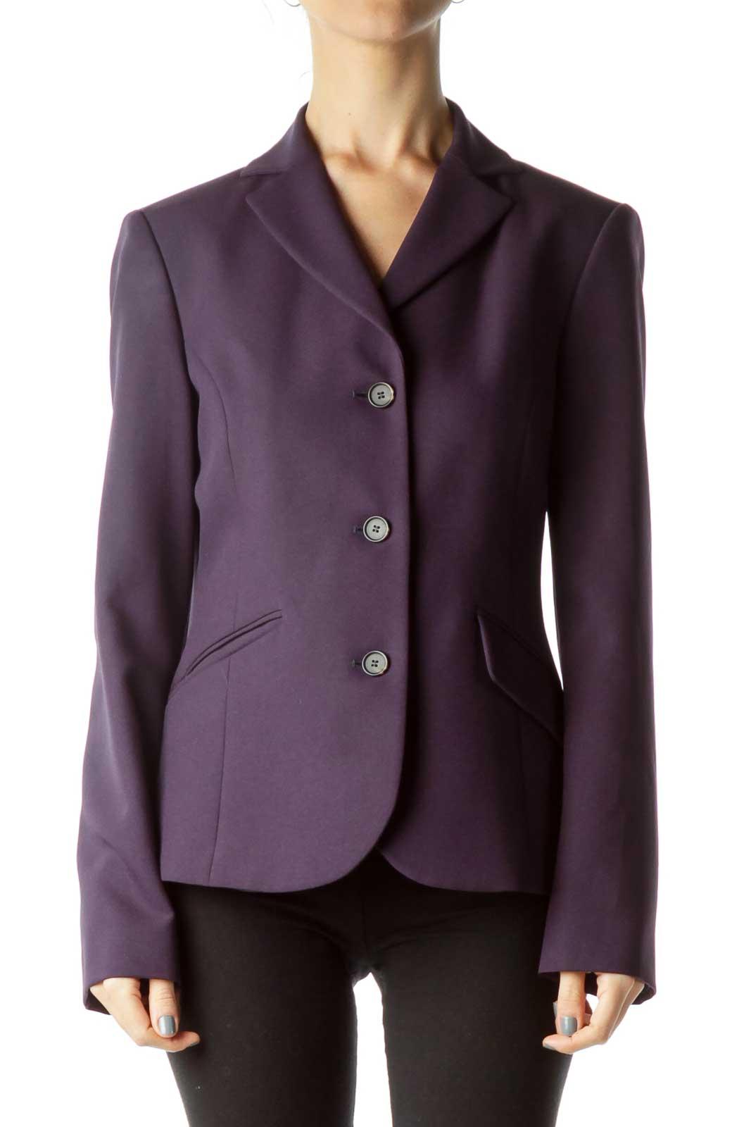 Purple Suit Jacket Front