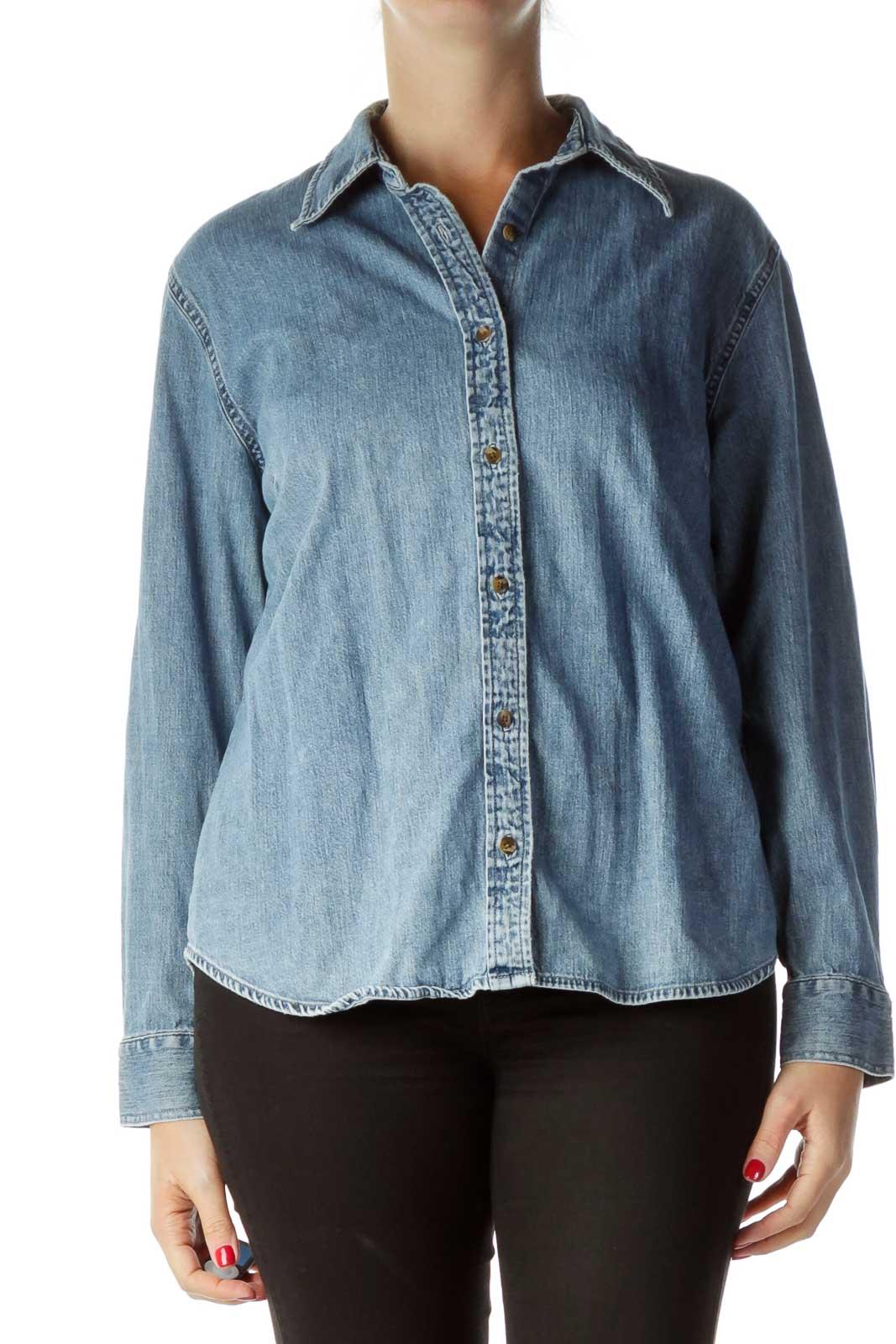 Blue Demin Shirt Front