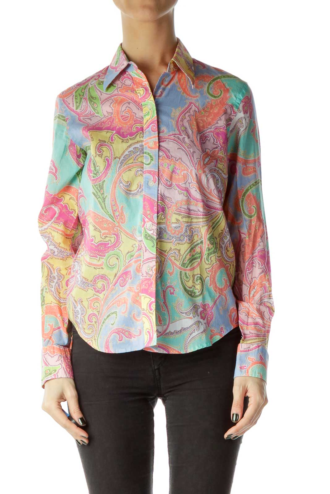 Multicolor Print Shirt Front