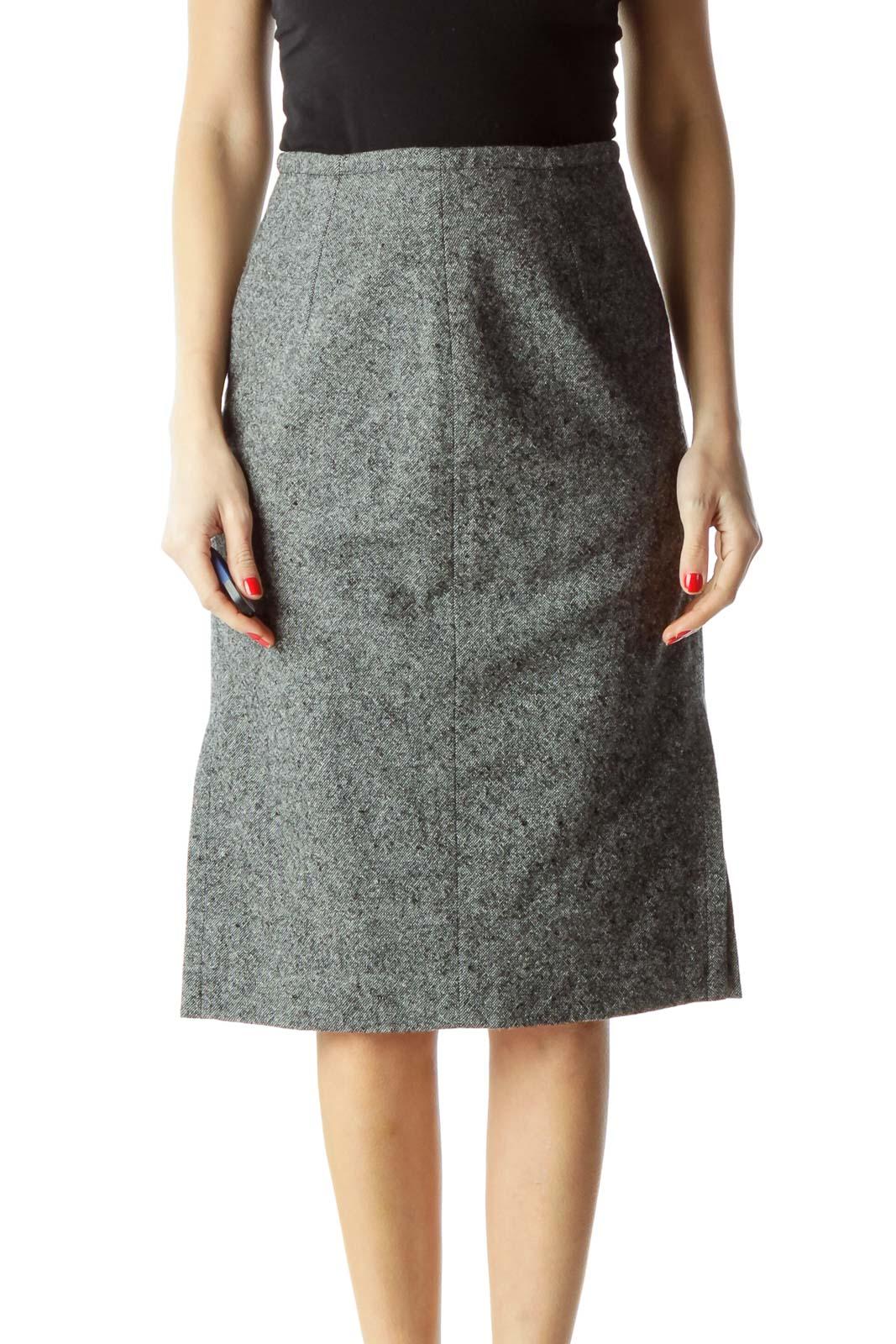 Gray Mottled Work Skirt Front