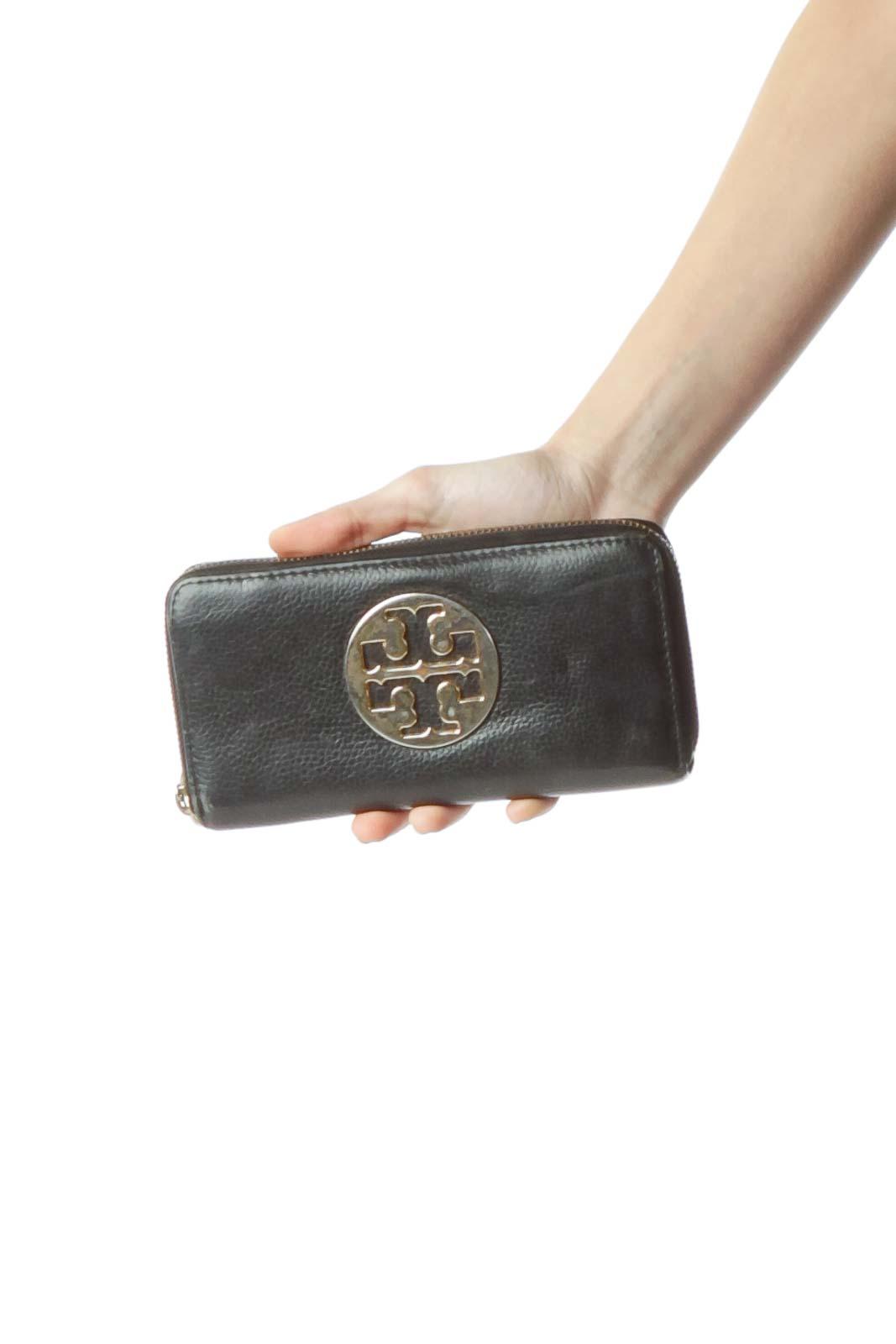 Black Leather Wallet Front