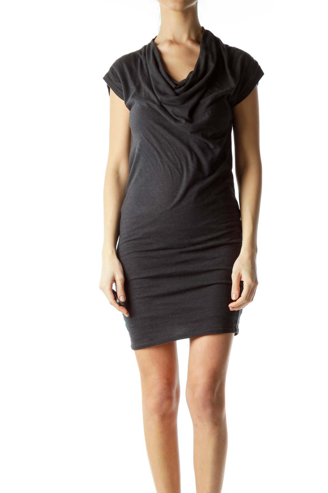 Gray Bodycon Jersey Dress Front