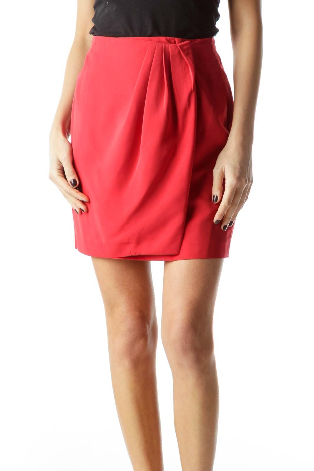 Red Mini Skirt Front