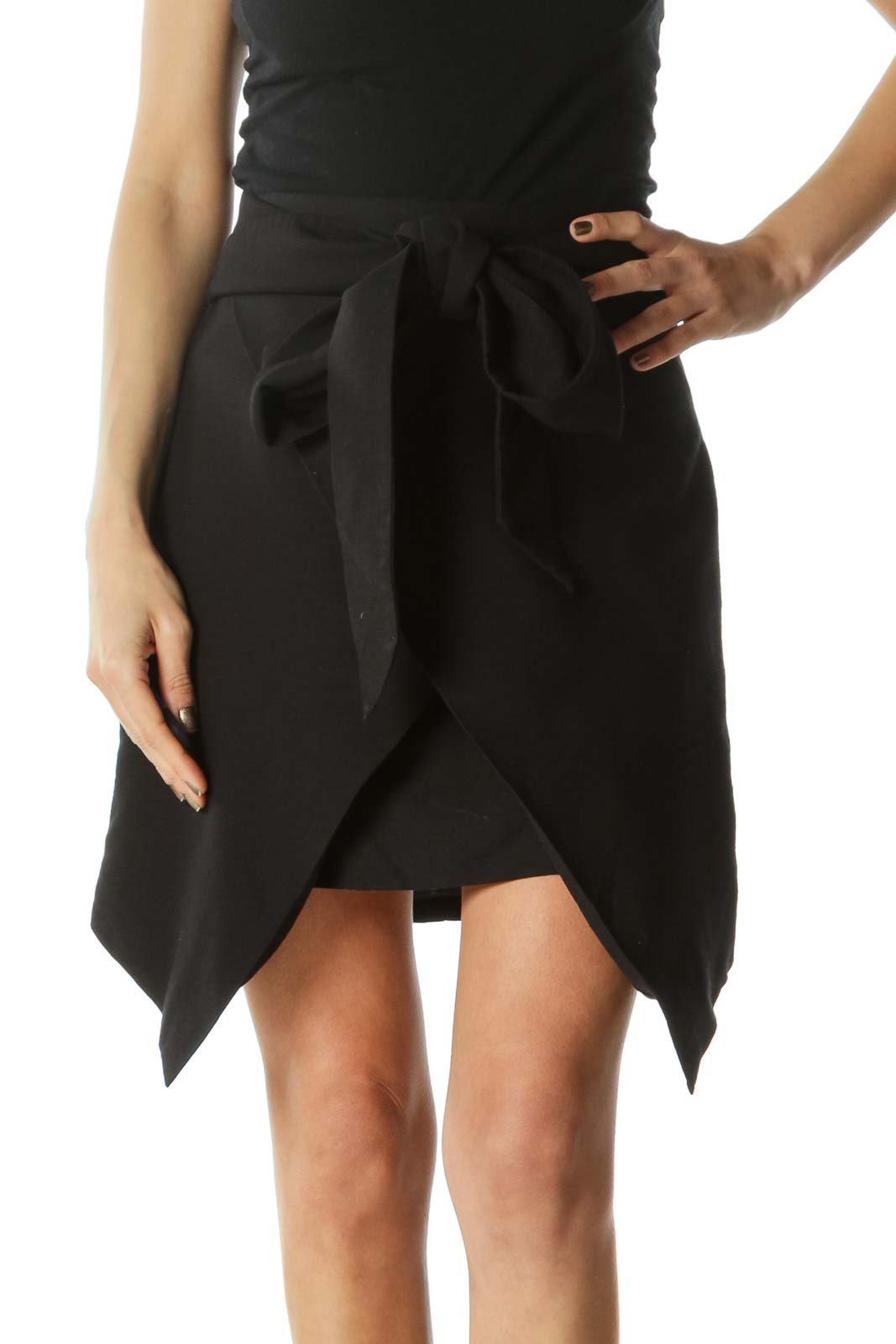 Black Bow-Tie Skirt  Front