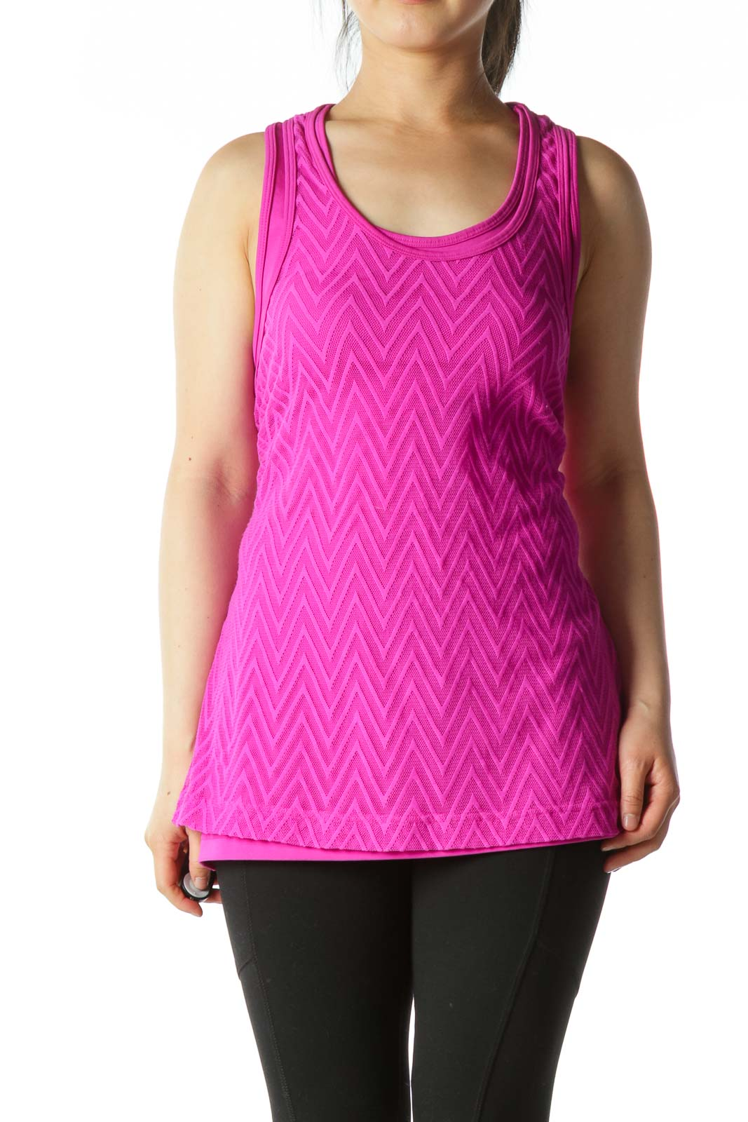 Pink Athletic Tank Top  Front