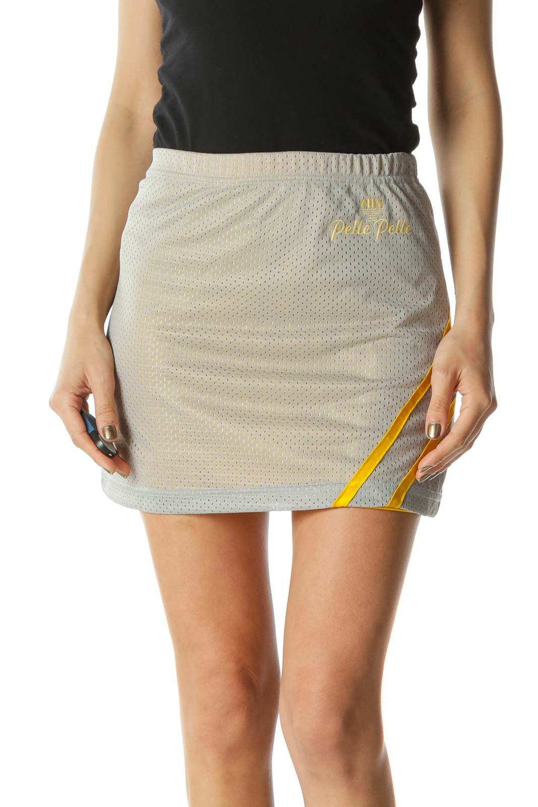 Gray and Yellow Sport Skirt  Front