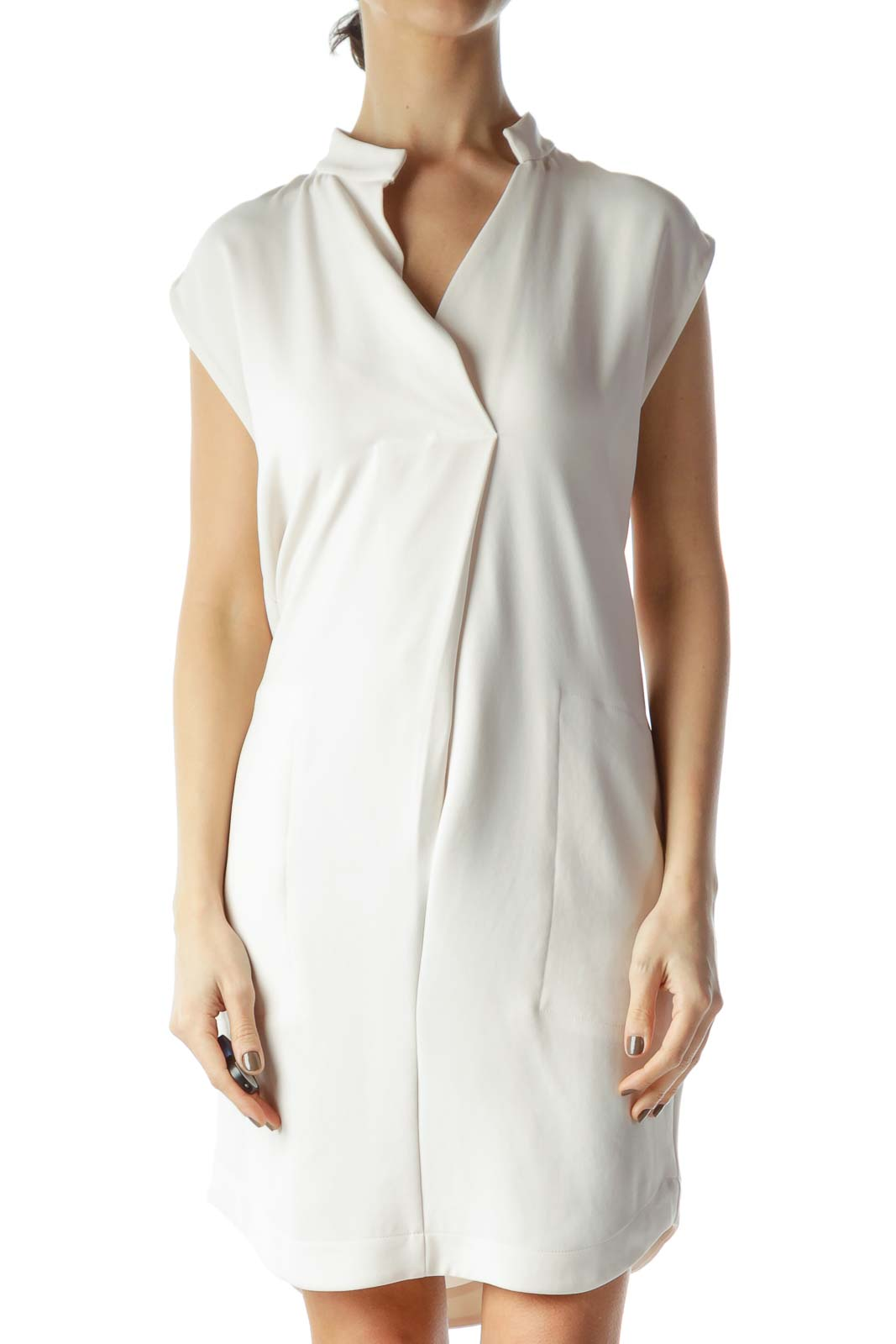 Cream Shift Dress Front