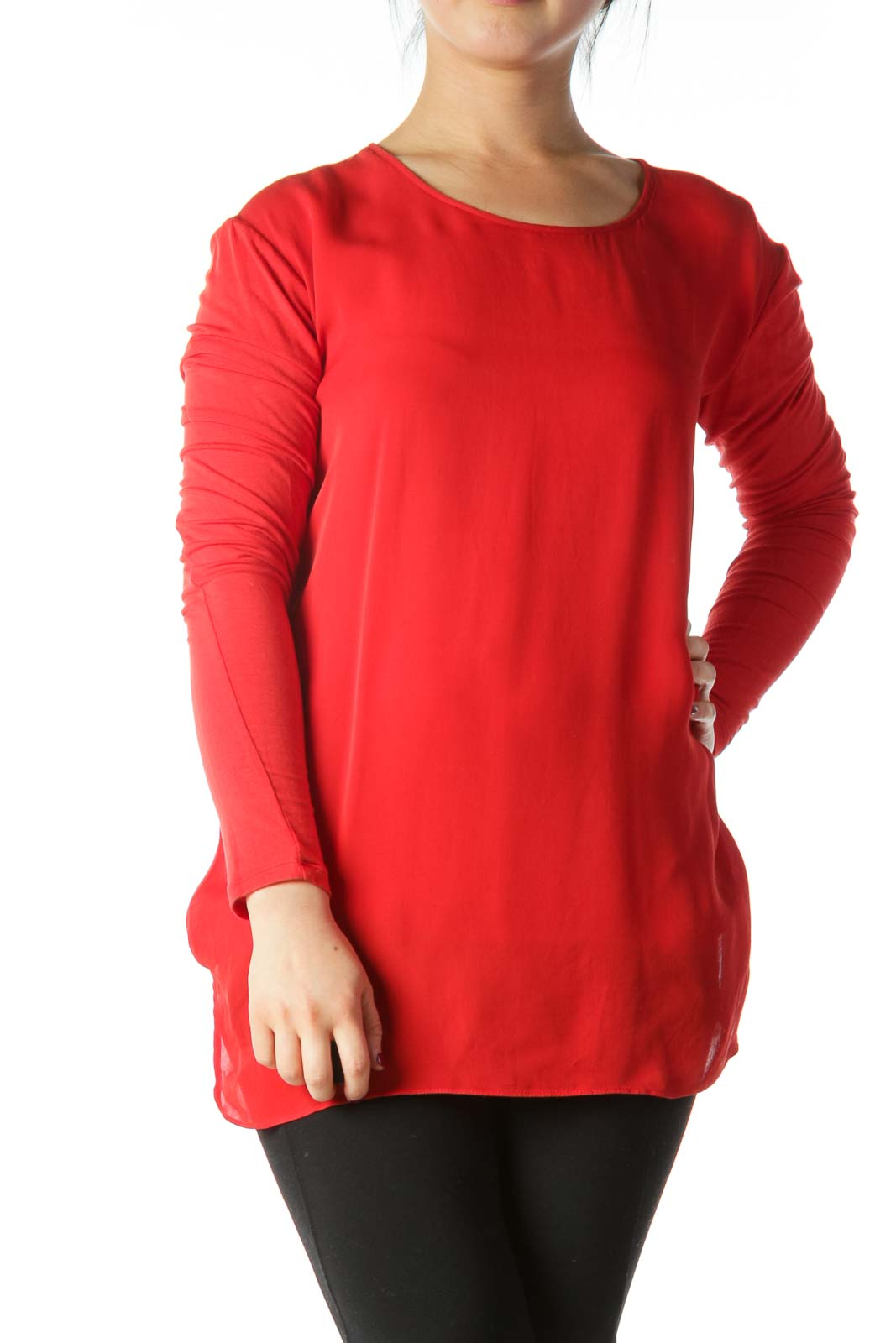 Red Silk Tunic  Front
