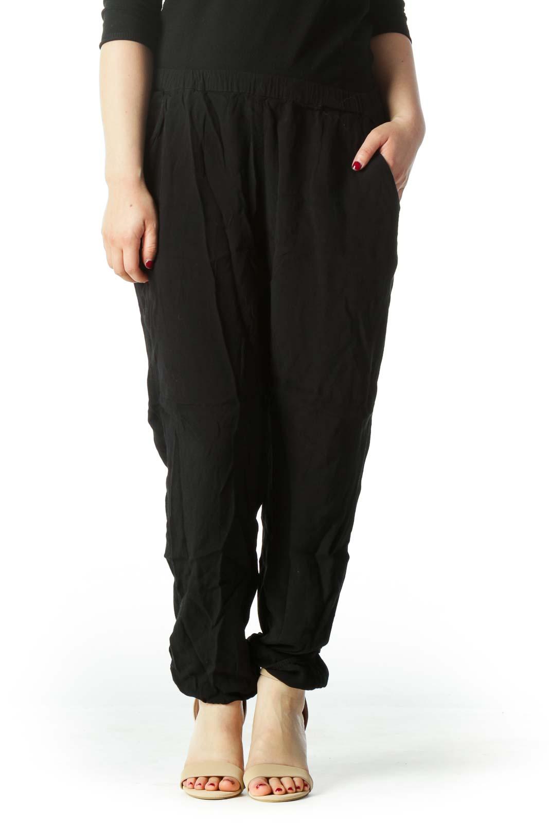 Black Loose Pants  Front