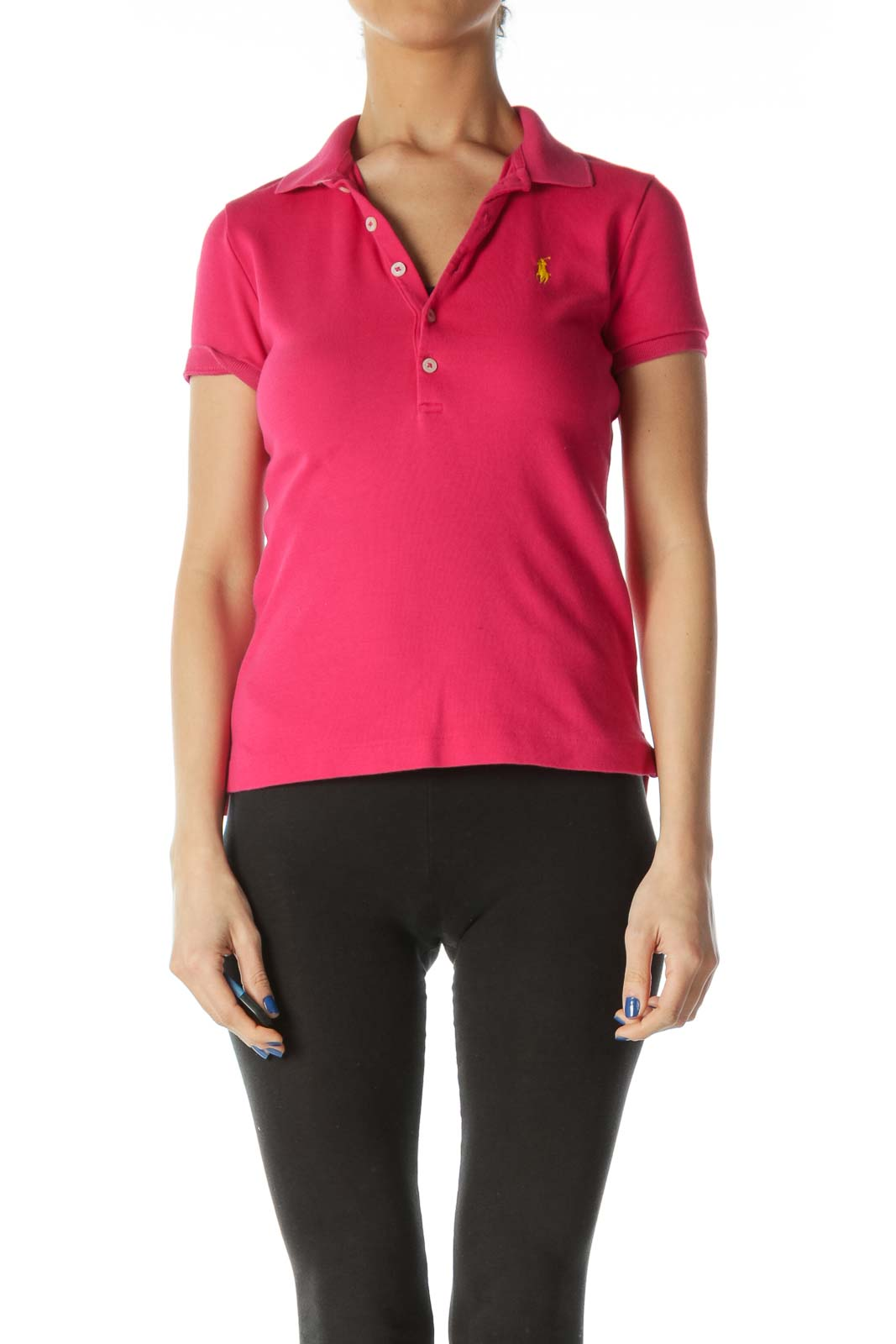 Hot Pink Polo Shirt Front