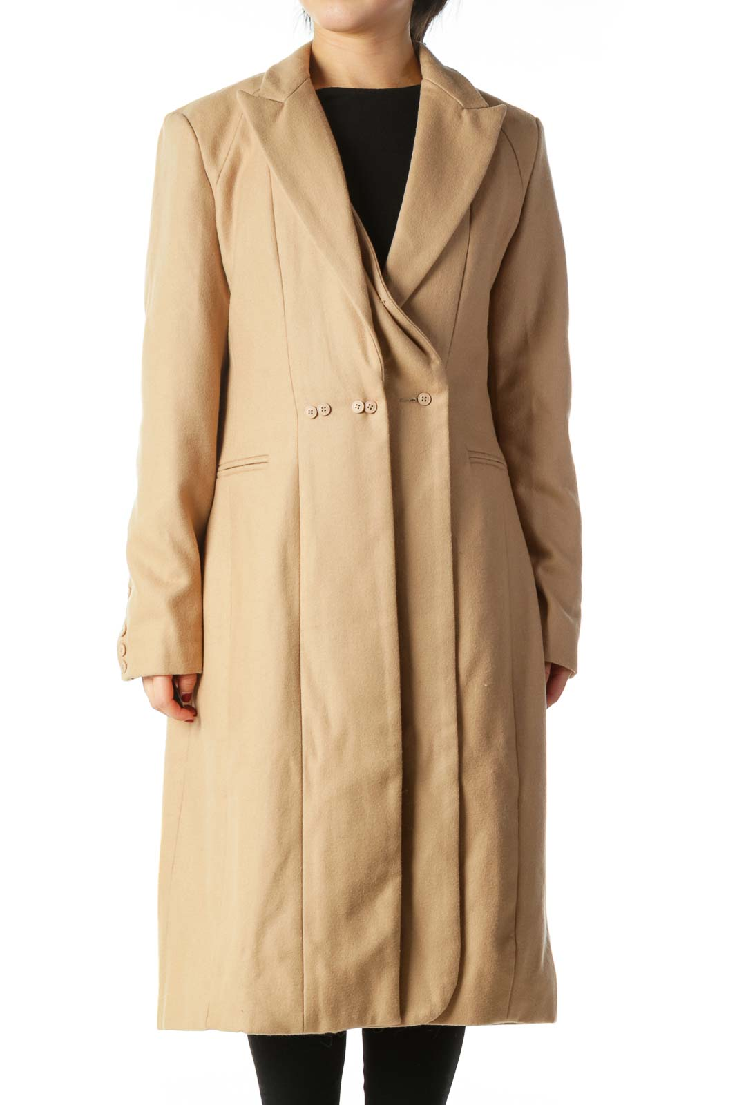 Camel Trench Coat Front