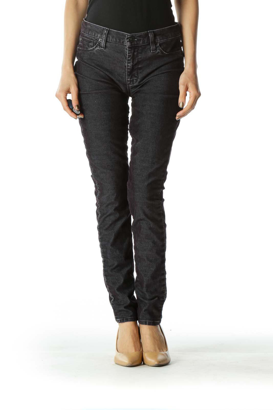 Dark Purple Corduroy Pant Front
