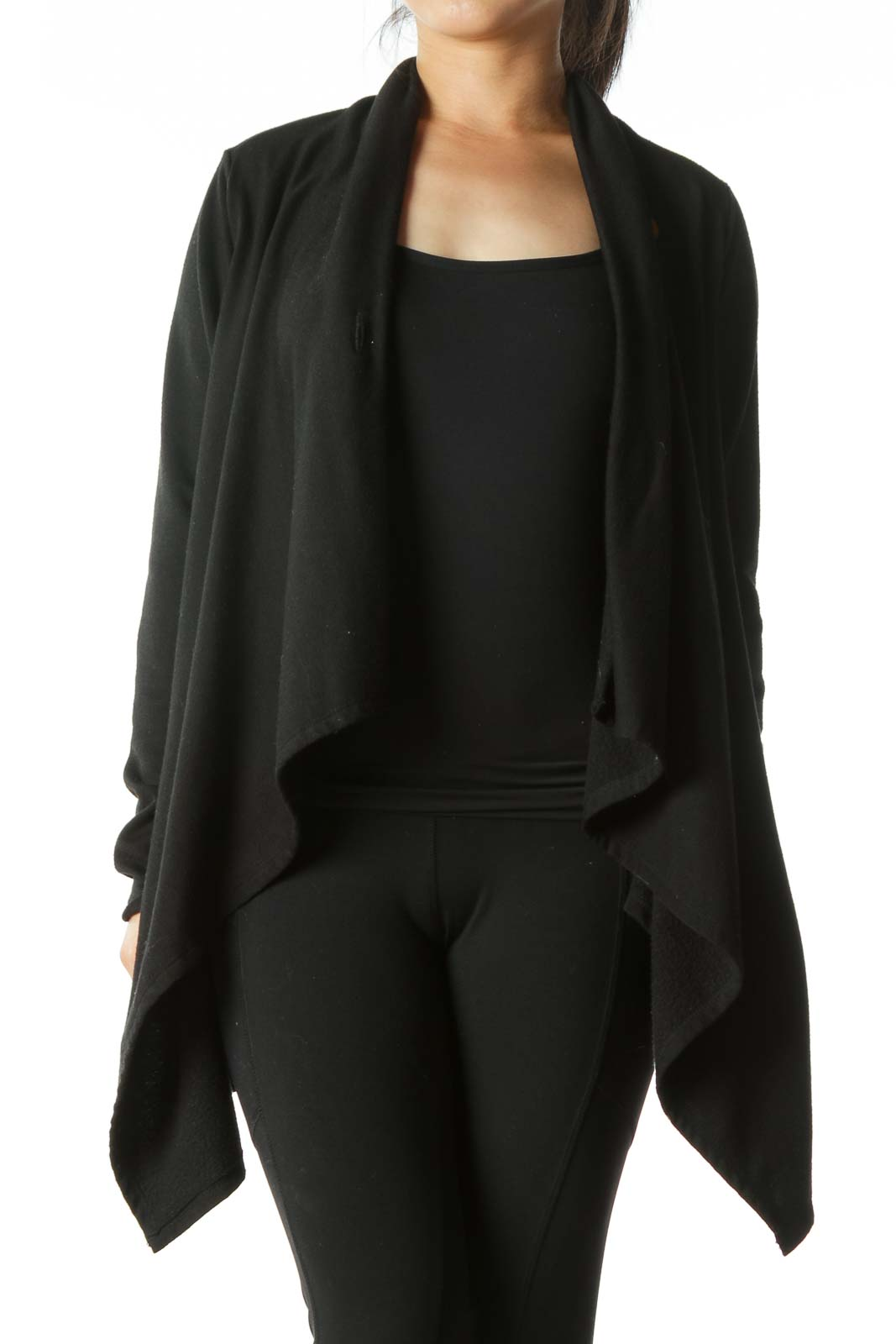 Black Poncho Jacket  Front